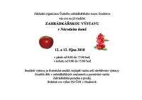 Zahrádkářská výstava v Národním domě v Doubravě