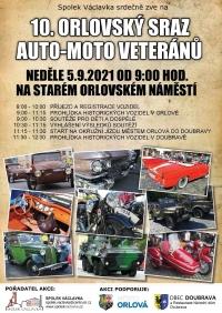 Orlovský sraz auto-moto veteránů bude mít opět zastávku v naší obci